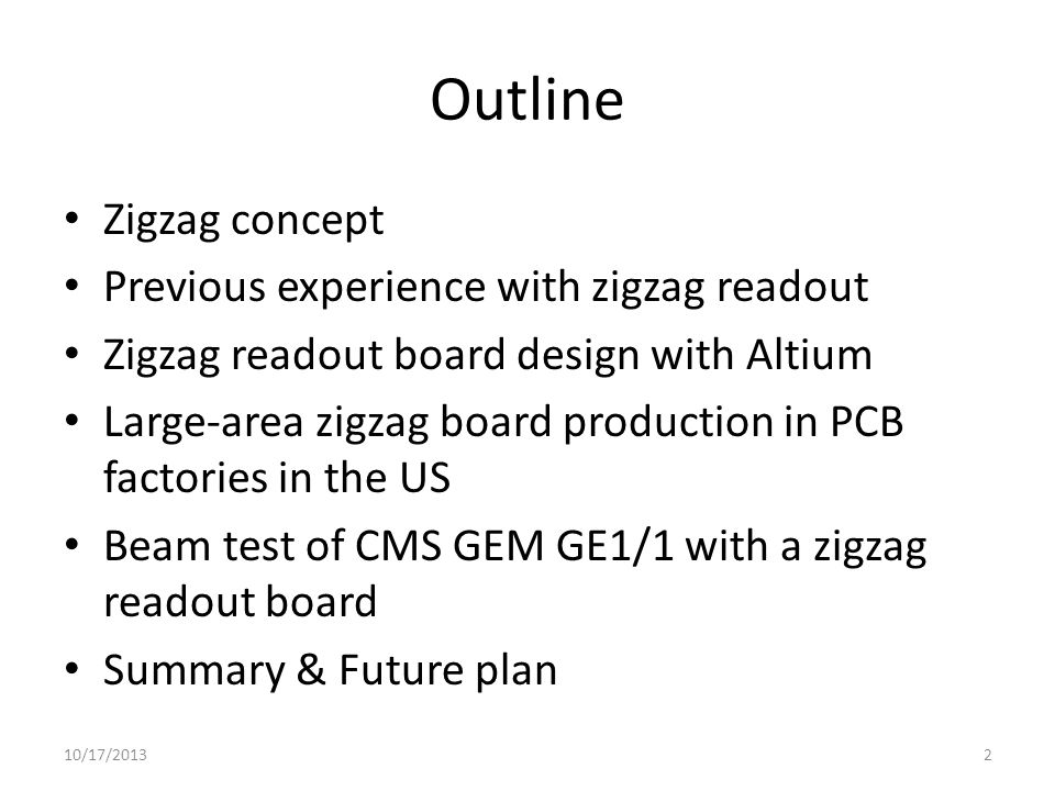 Zigzag board production First version for 30cm GEM detectors from American Circuit, bending maximum 1.2% of board length.