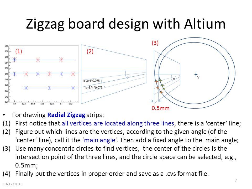 Zigzag board design with Altium Zigzag design of CMS GE 1/1 prototype.