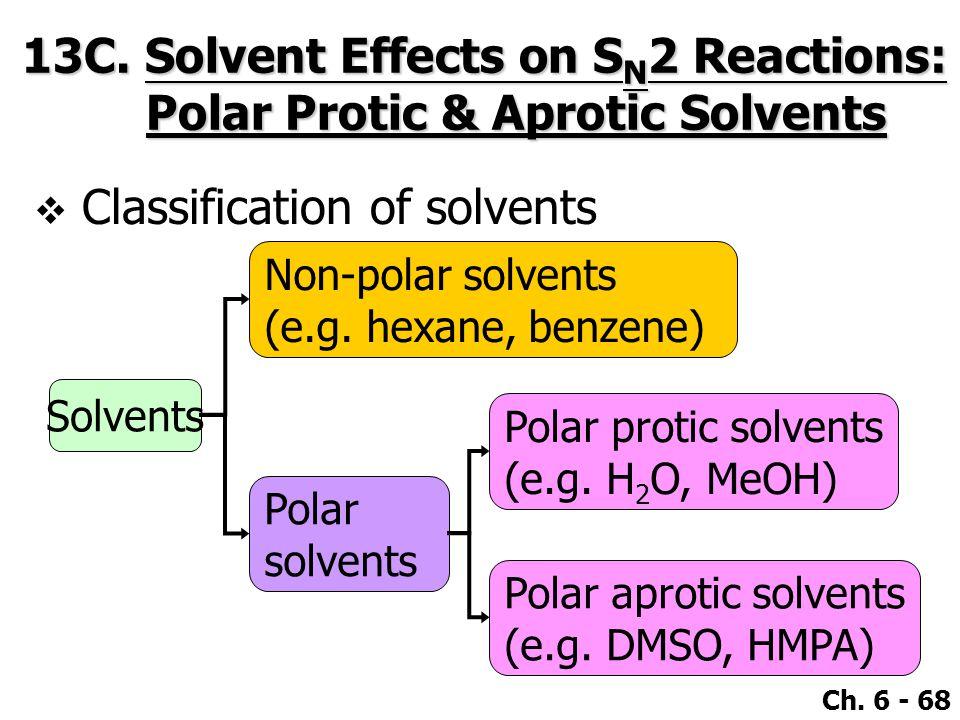 Ch. 6 - 68 Solvents Non-polar solvents (e.g.