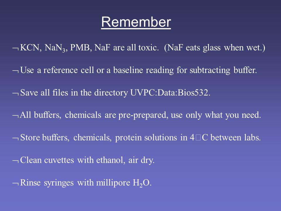 Remember  KCN, NaN 3, PMB, NaF are all toxic.