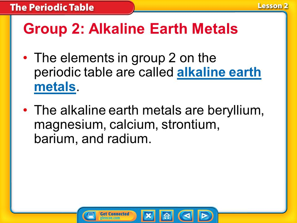 Lesson 2-2 Alkali metals react violently with water.