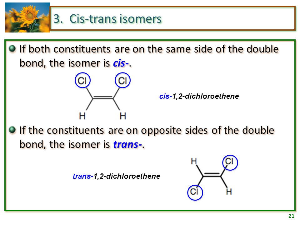 20 3. Geometric isomers Time for the first Chapter 11 Journal question.