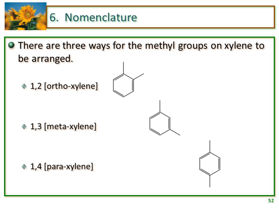 51 6. Nomenclature A few common names have been adopted as IUPAC nomenclature.
