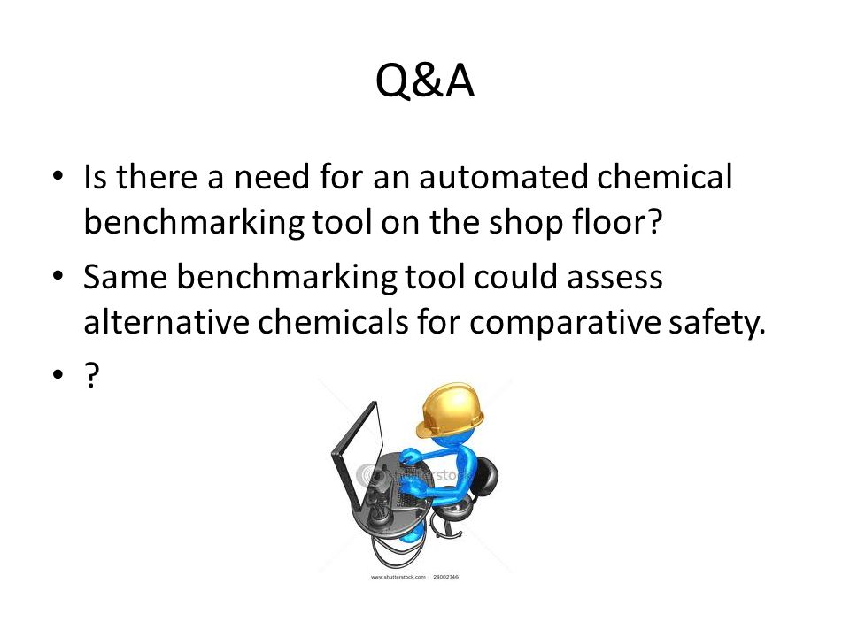 Q&A Is there a need for an automated chemical benchmarking tool on the shop floor.