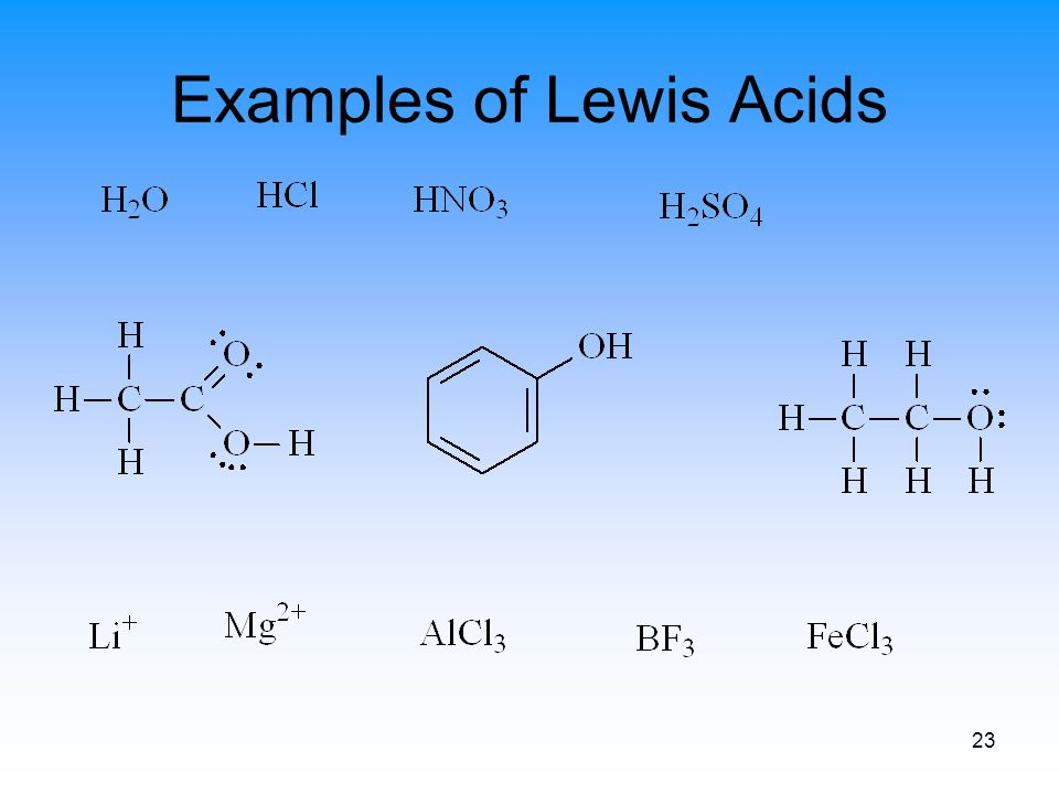 23 Examples of Lewis Acids