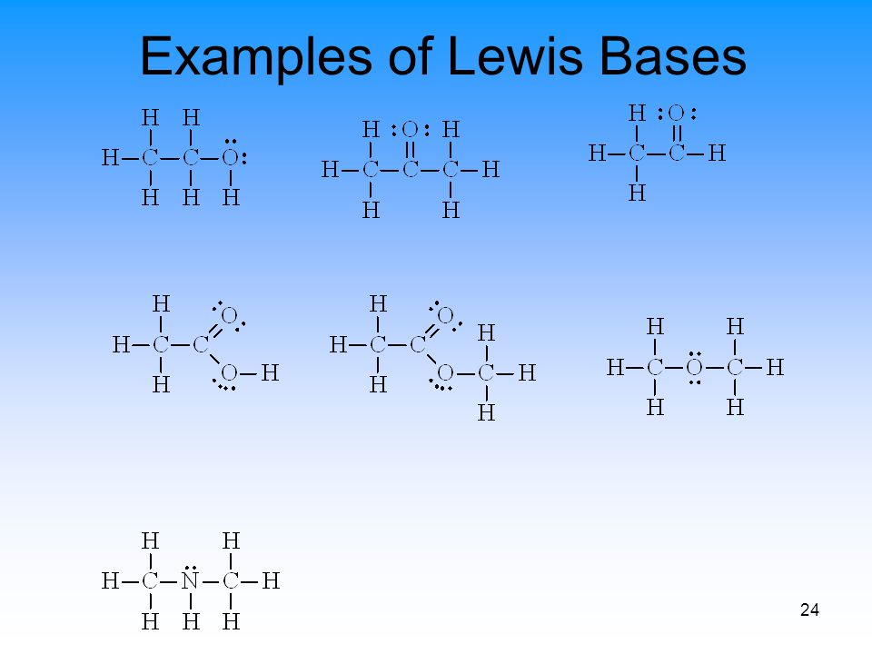24 Examples of Lewis Bases