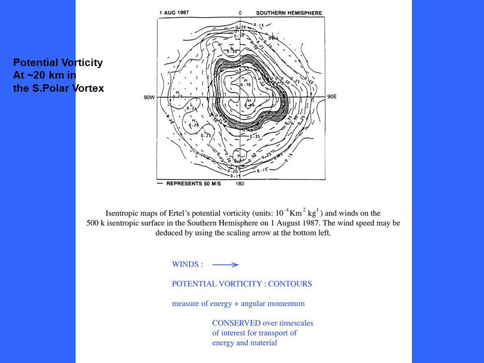 Potential Vorticity At ~20 km in the S.Polar Vortex