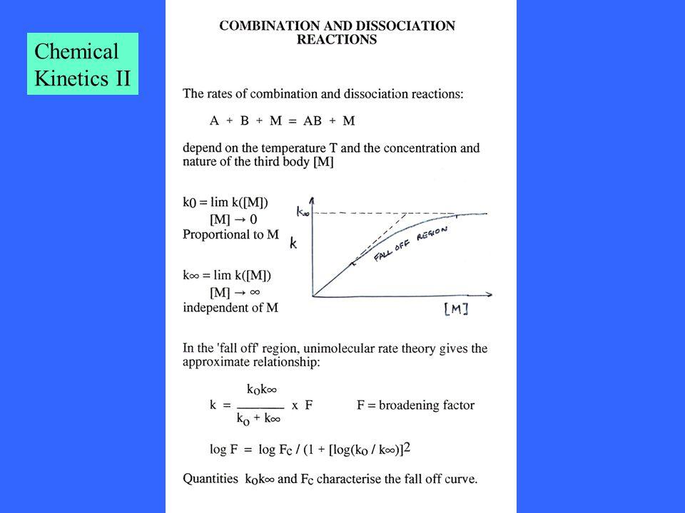 Chemical Kinetics II