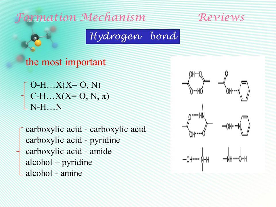 Formation MechanismReviews Heteroatom with lone pair electron(N, O, S) Halogen bond Lewis acid halogen atom ( Cl,Br,I ) Lewis acid halogen atom ( Cl,Br,I ) non-covalent bond