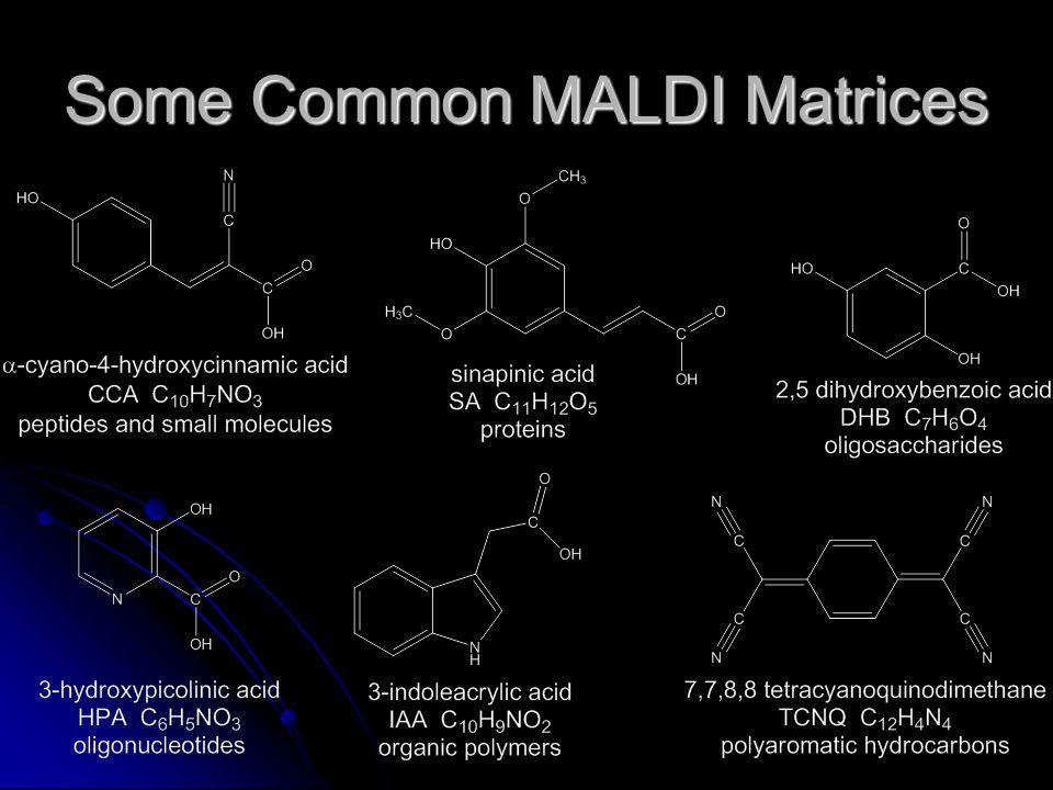Some Common MALDI Matrices
