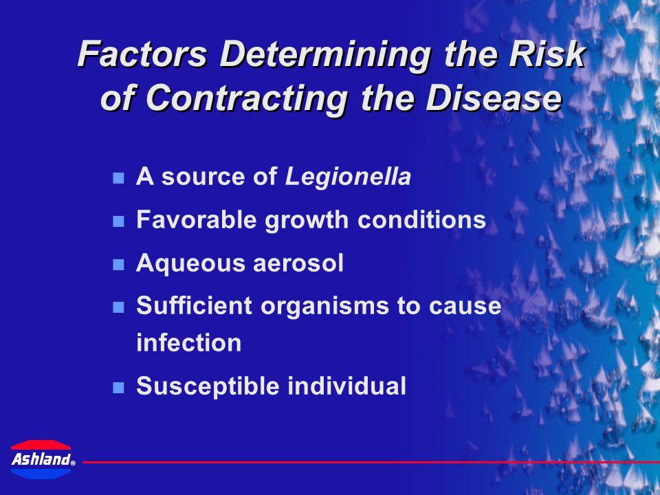 ® Legionella Rod-shaped, aerobic organisms Found in natural and man-made water systems Up to 40 species identified Legionella pneumophila –Virulent strain causing Legionellosis