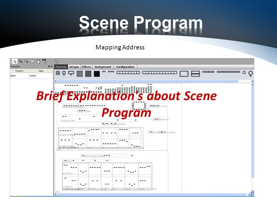 Mapping Address Brief Explanation s about Scene Program
