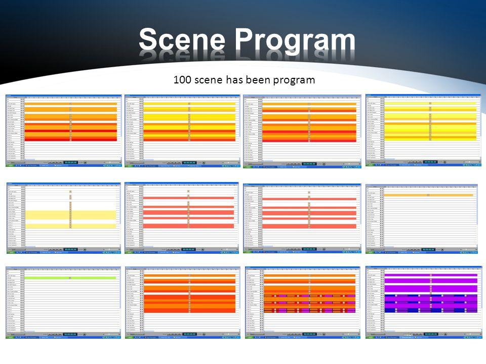 100 scene has been program