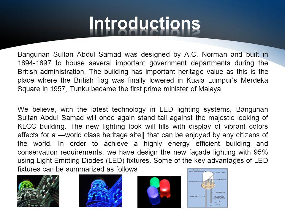 Bangunan Sultan Abdul Samad was designed by A.C.