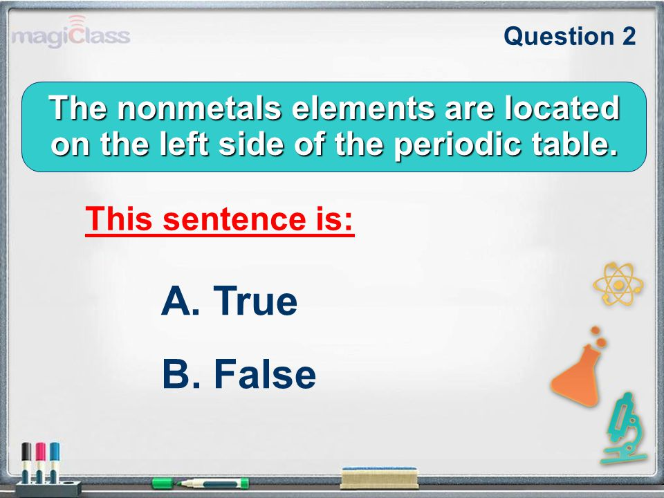 The nonmetals elements are located on the left side of the periodic table.