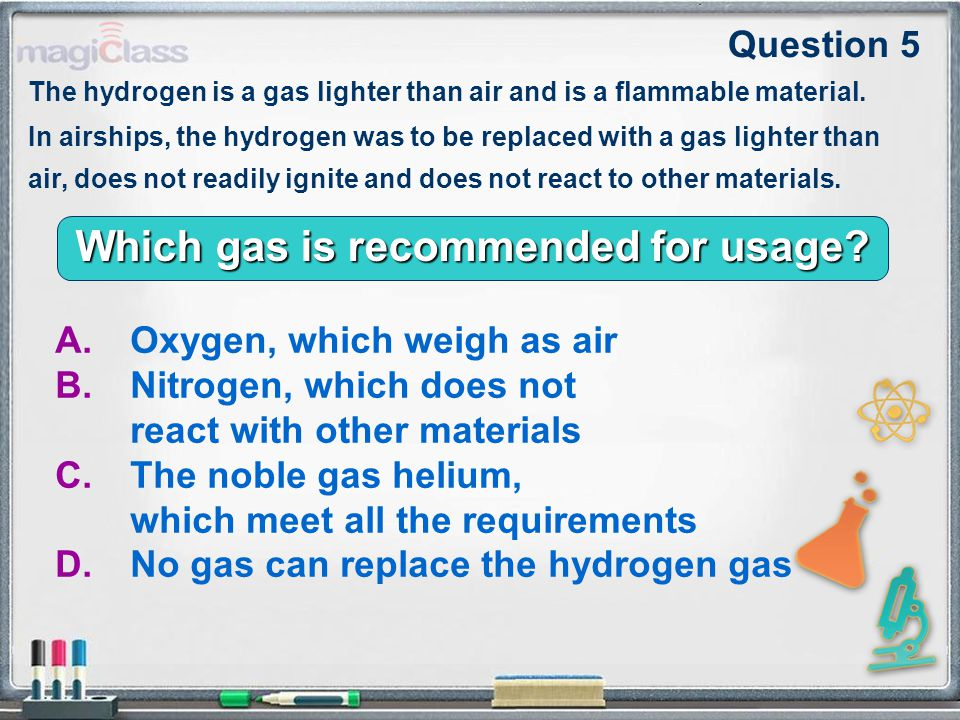 Which gas is recommended for usage.