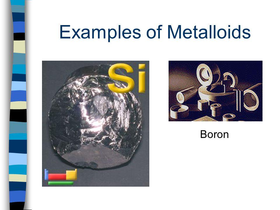 Examples of Metalloids Boron