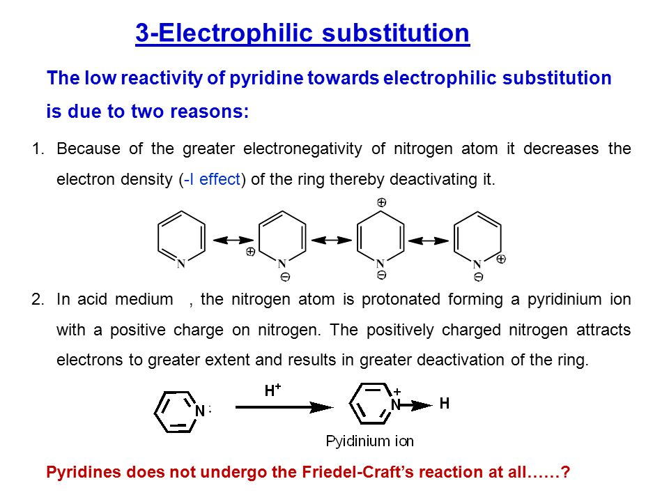 The position of substitution may be considered from the point of view of the stabilities of the intermediate carbocations.