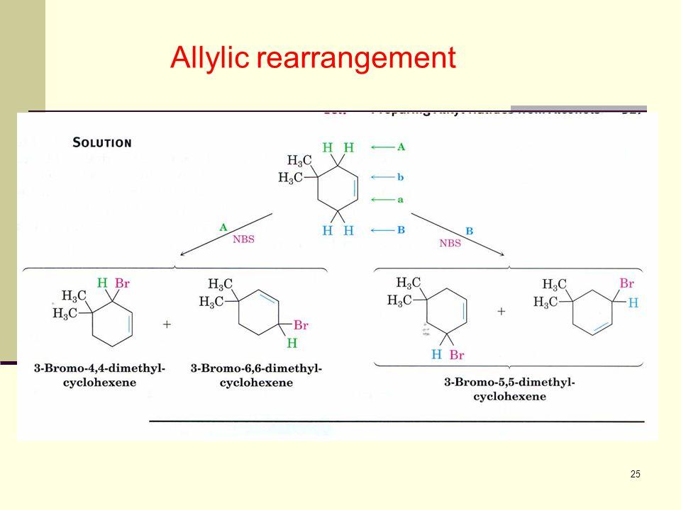 25 Allylic rearrangement