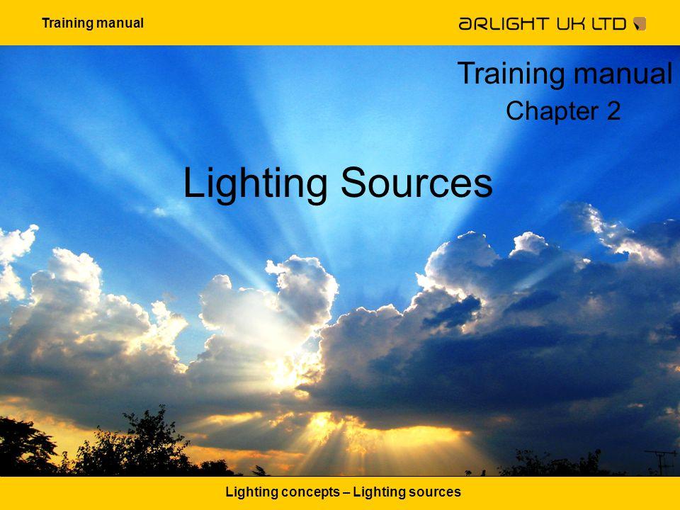 Training manual Lighting concepts – Lighting sources Lighting Sources Training manual Chapter 2