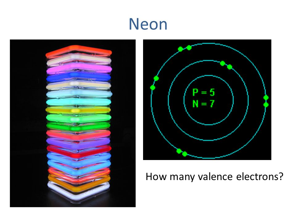 Neon How many valence electrons?