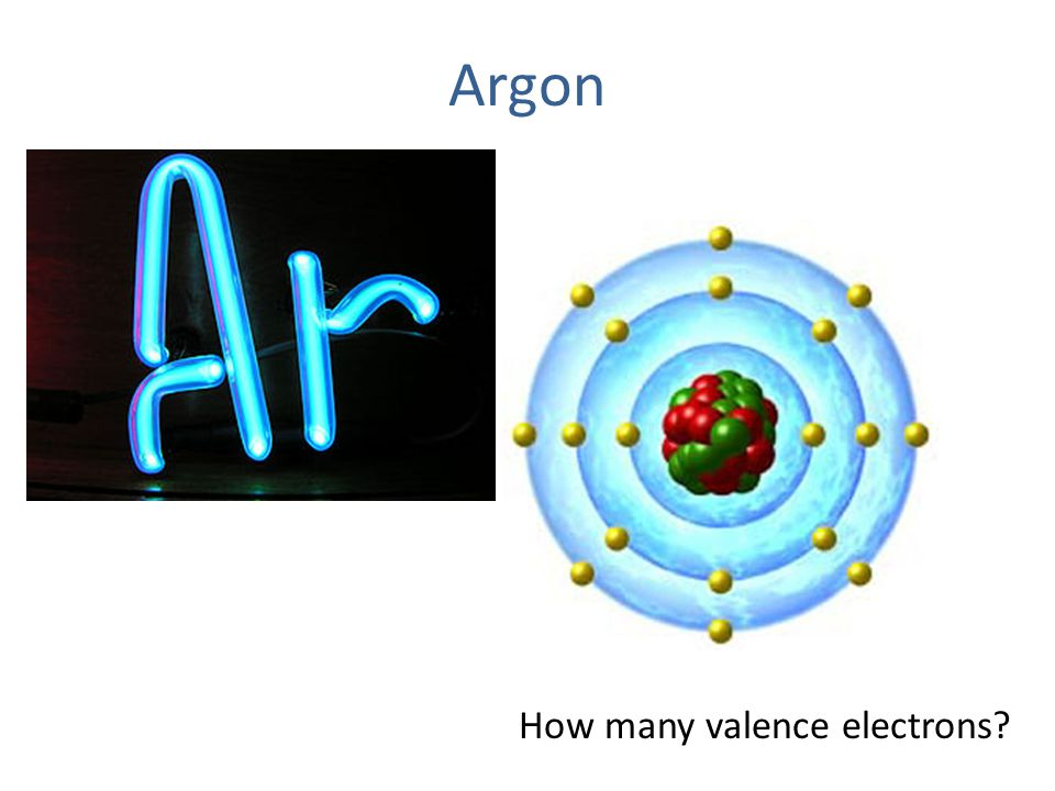 Argon How many valence electrons?