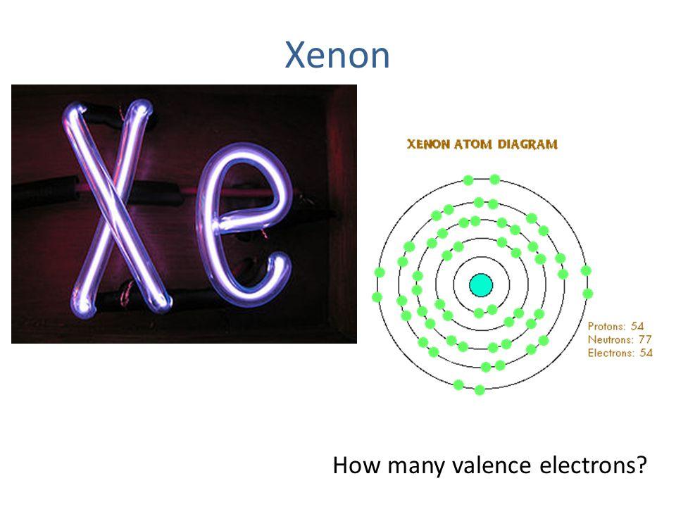 Xenon How many valence electrons?