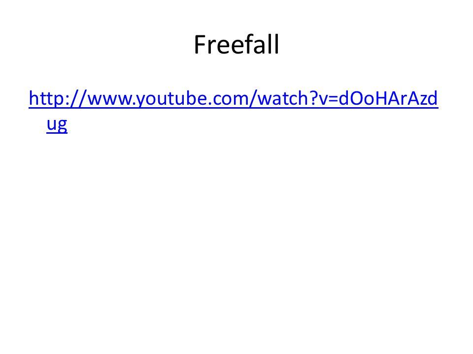 Freefall http://www.youtube.com/watch?v=dOoHArAzd ug