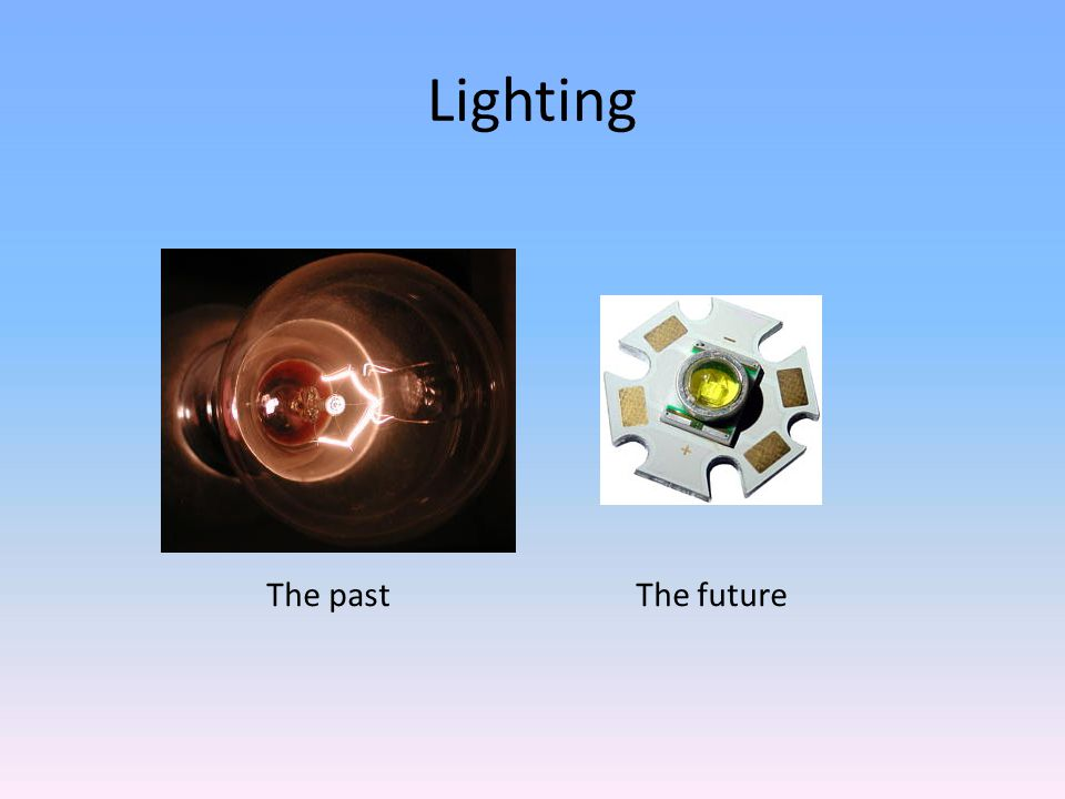 Lighting The past The future