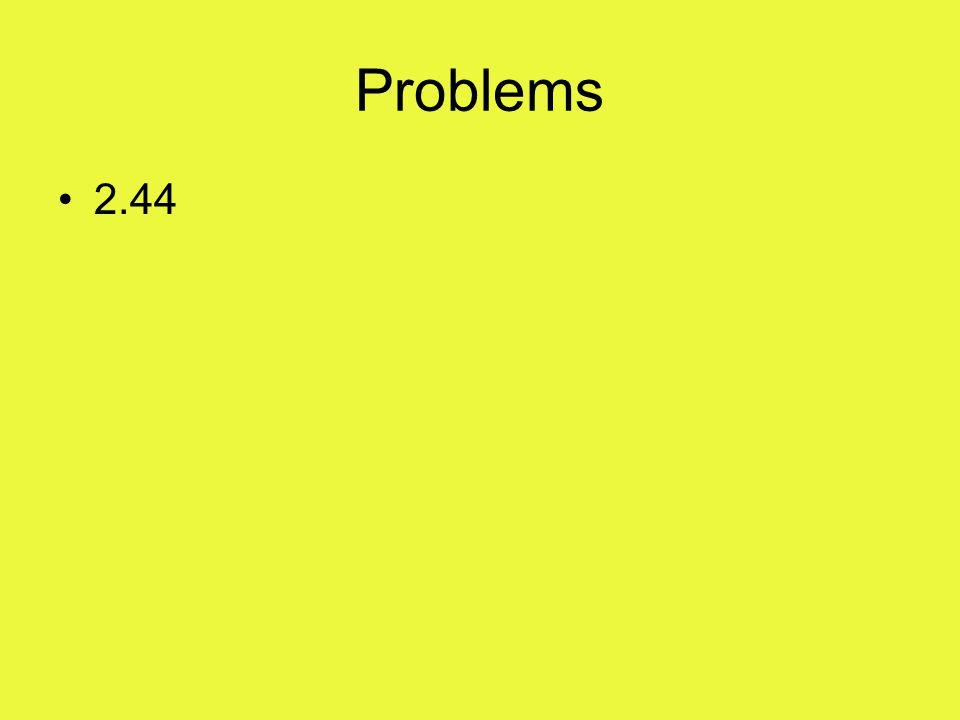 Problems 2.44