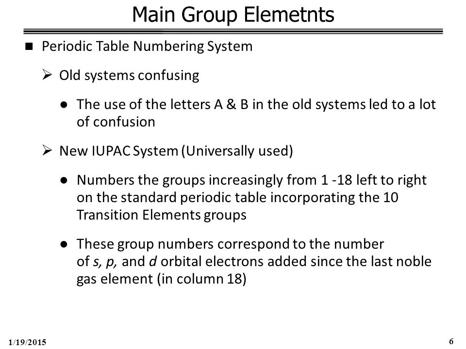 1/19/2015 77 Group 6 – Oxygen Family (ns 2 np 4 ) ●Halide Structure (con't)  Inverse relationship between bond length & bond strength does not explain pattern of Group 6 Halide formation  Crowding of lone electron pairs and Halogen (X) atoms around the central atom  With S (small central atom) the larger Halides further down group 7 would be too crowded, which explains why Sulfur Iodides don't occur