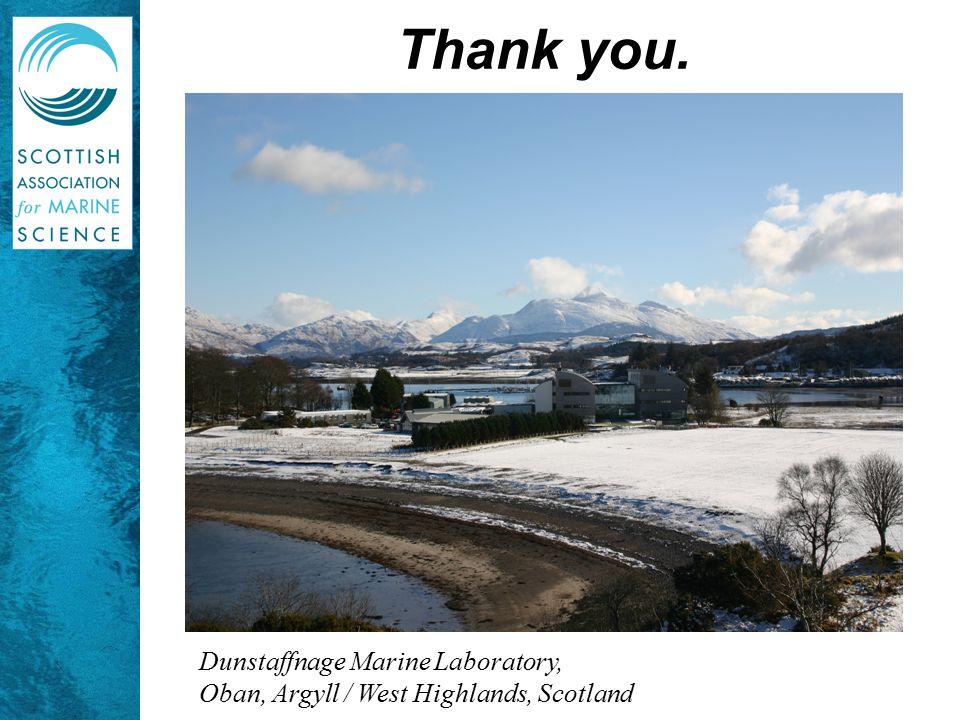 Dunstaffnage Marine Laboratory, Oban, Argyll / West Highlands, Scotland Thank you.