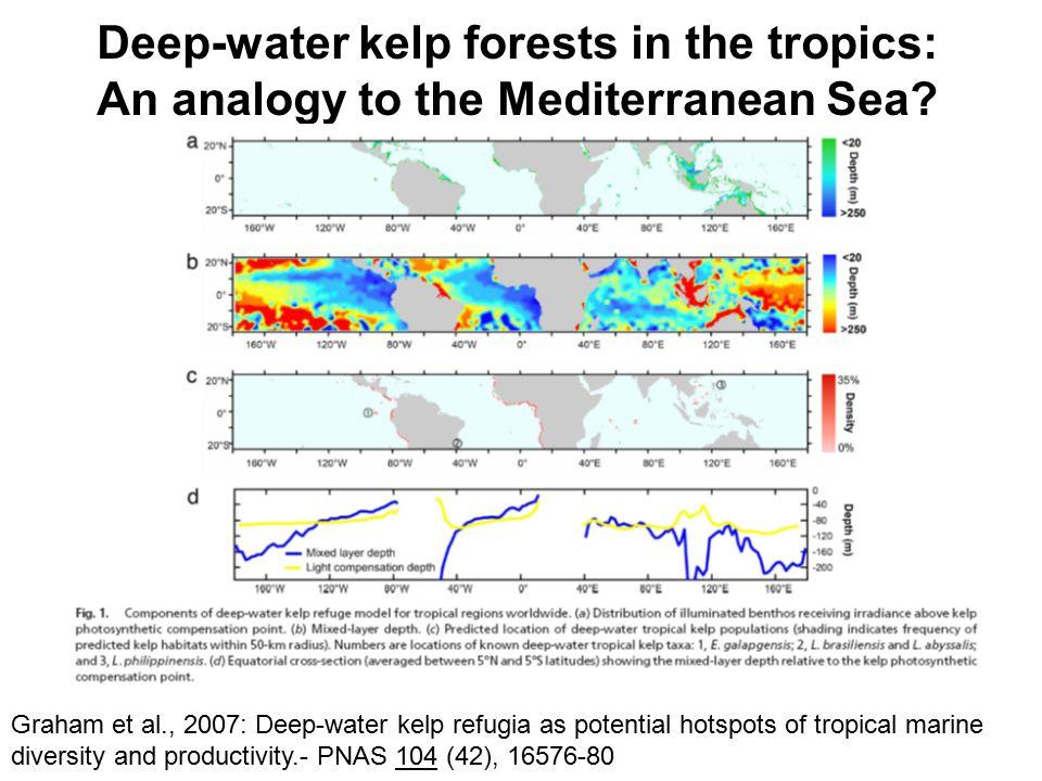Graham et al., 2007: Deep-water kelp refugia as potential hotspots of tropical marine diversity and productivity.- PNAS 104 (42), 16576-80 Deep-water