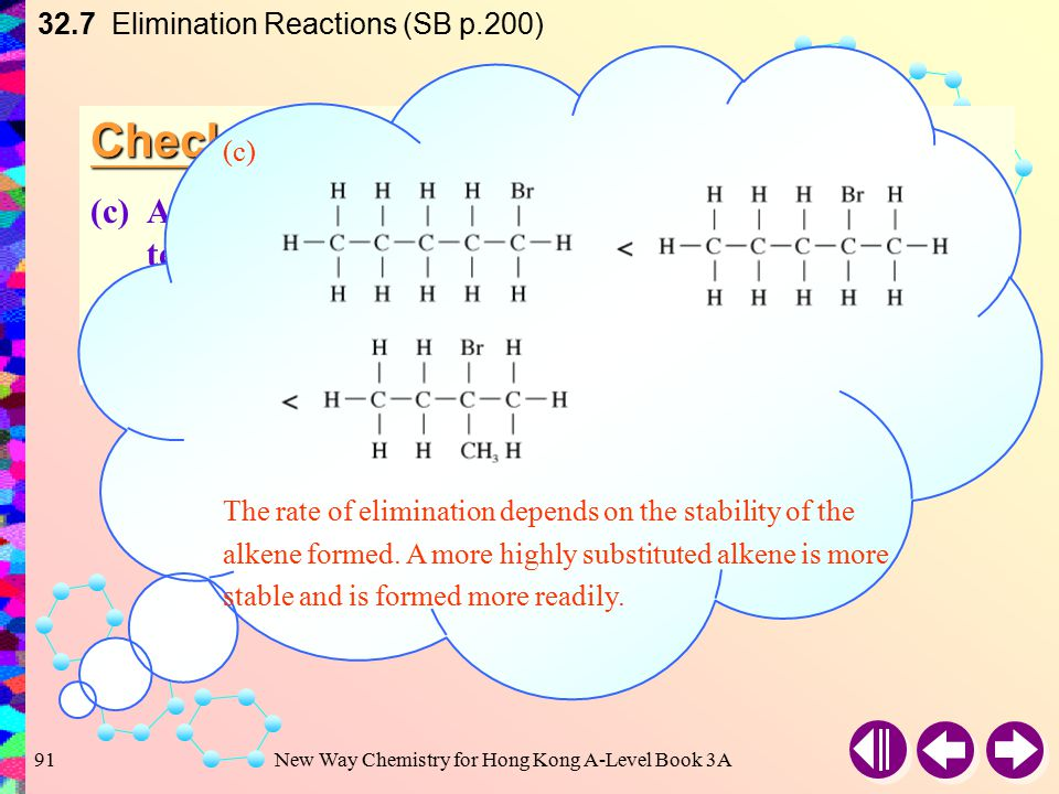 New Way Chemistry for Hong Kong A-Level Book 3A90 Check Point 32-5 (b)2-Iodo-2-methylbutane gives two elimination products: one is 2-methylbut-2-ene, what is the other one.