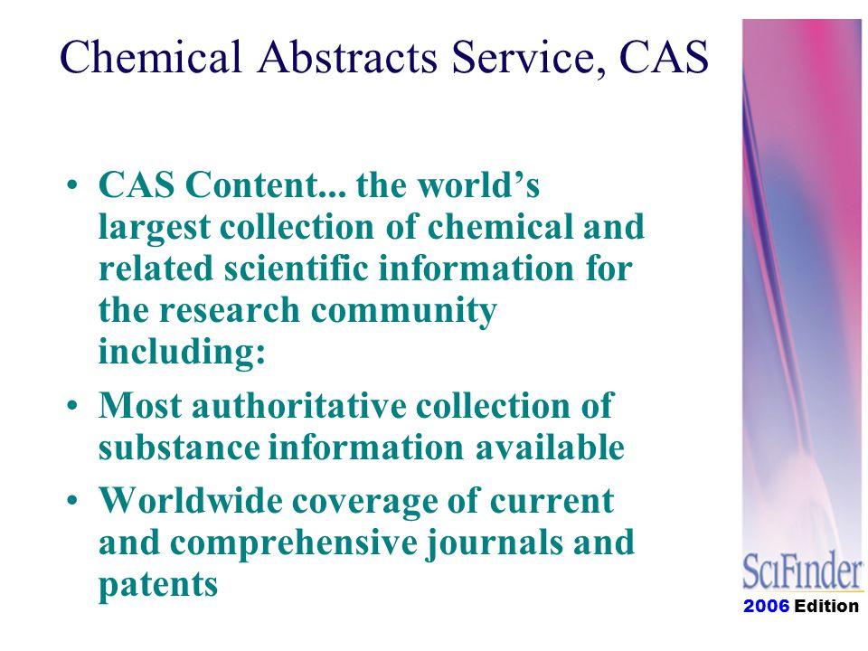2006 Edition CAS Content...