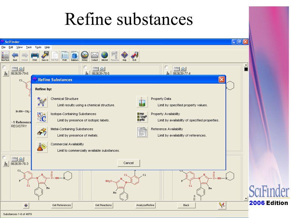 2006 Edition Refine substances