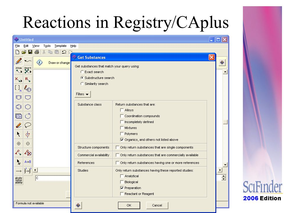 2006 Edition Reactions in Registry/CAplus