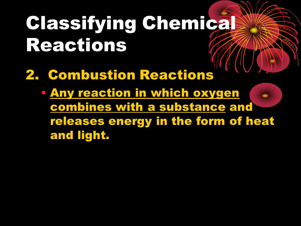 Classifying Chemical Reactions 2.