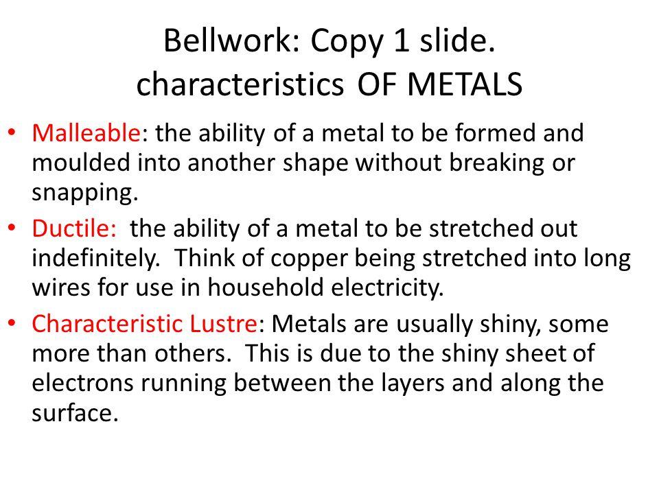 Bellwork: Copy 1 slide.