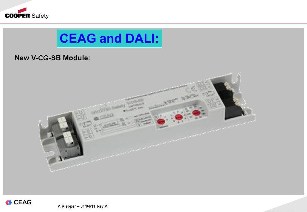 A.Klepper – 01/04/11 Rev.A CEAG and DALI: New V-CG-SB Module: