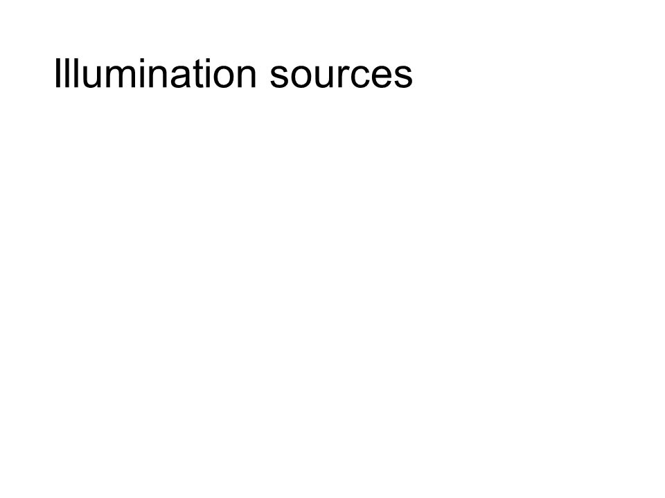 Illumination sources