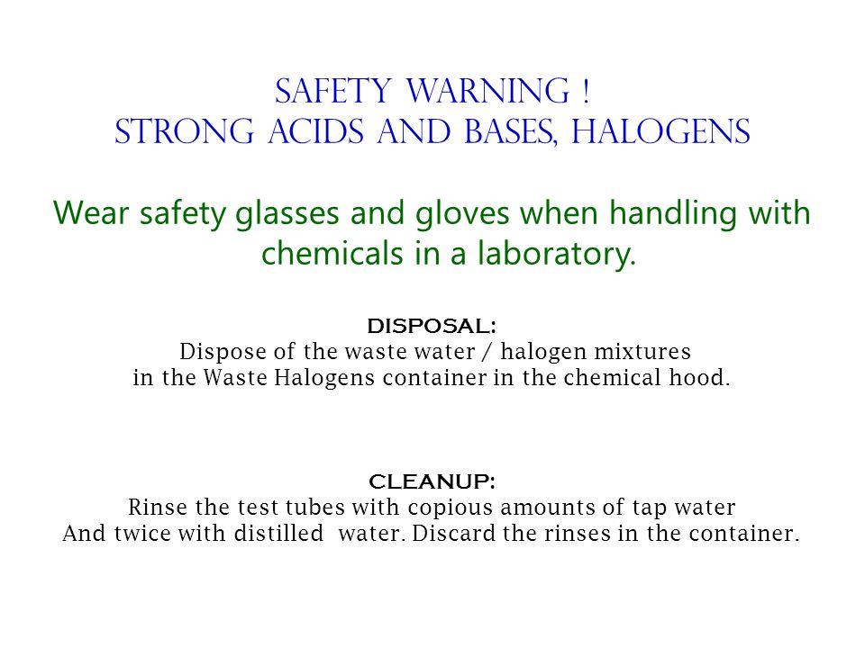 Safety Warning .