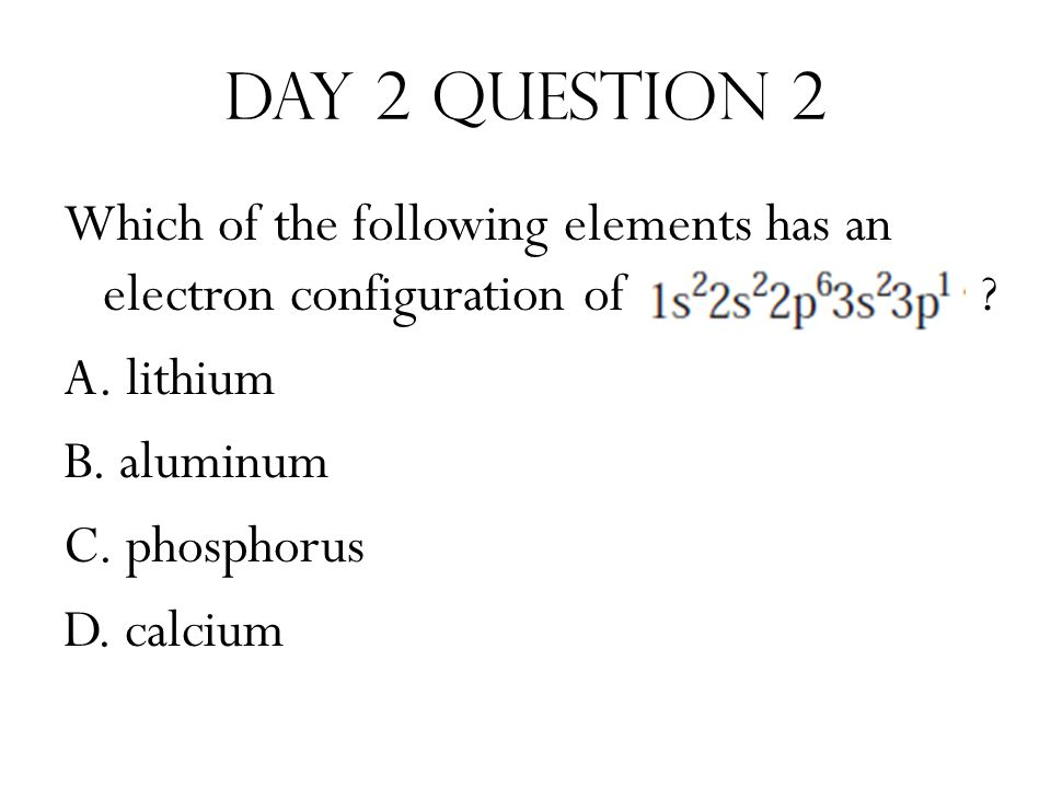 Day 5 Question 1 Which of the following elements has characteristics of some metals and also of some nonmetals.