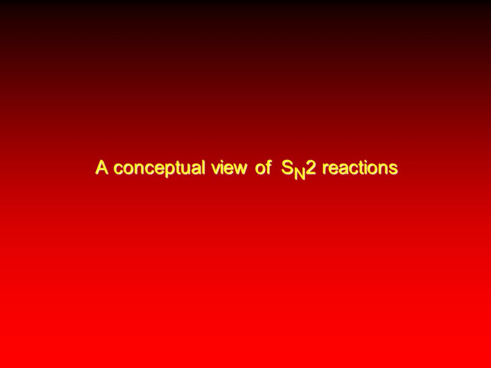 A conceptual view of S N 2 reactions