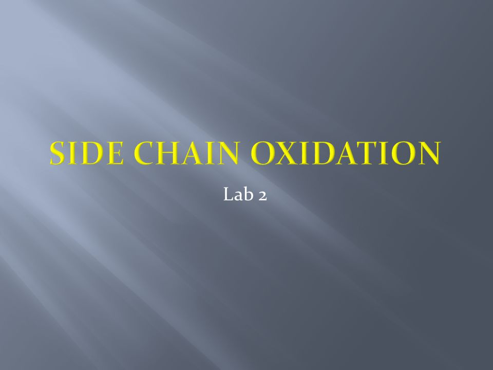  The oxidation can be carried out by the action of hot alkaline potassium permanganate.