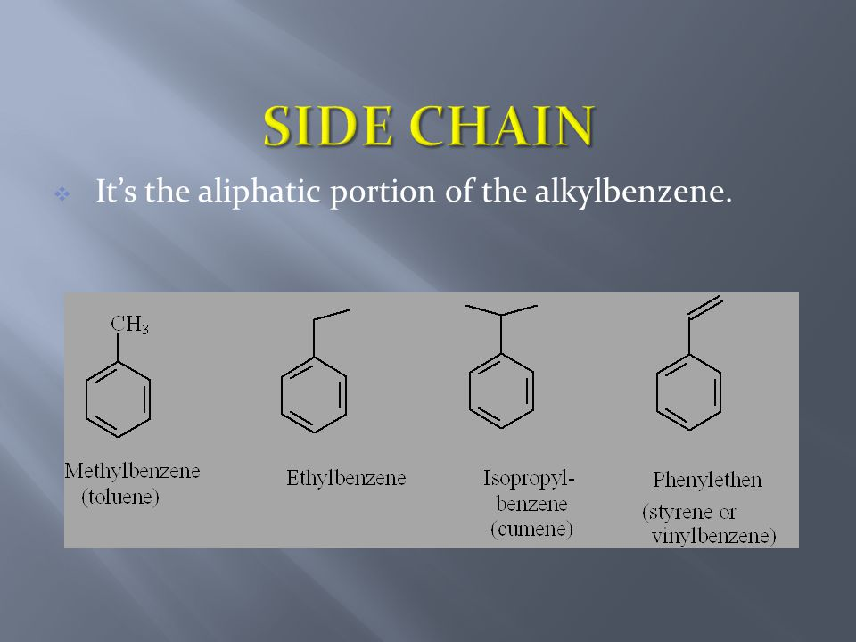  It's the aliphatic portion of the alkylbenzene.