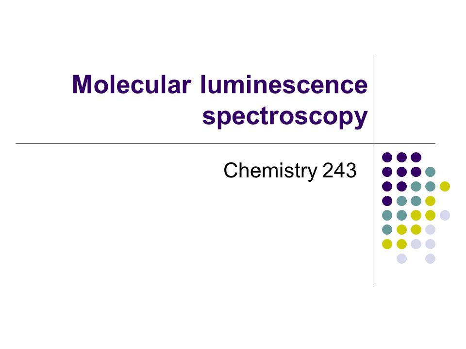 Molecular luminescence spectroscopy Chemistry 243