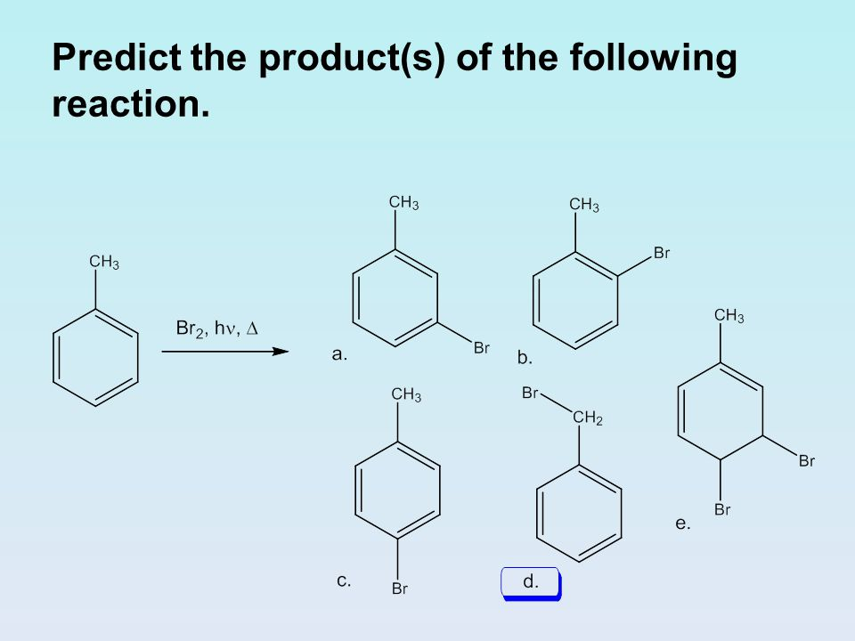 Predict the product(s) of the following reaction.