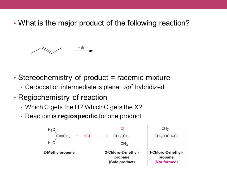 What is the major product of the following reaction.