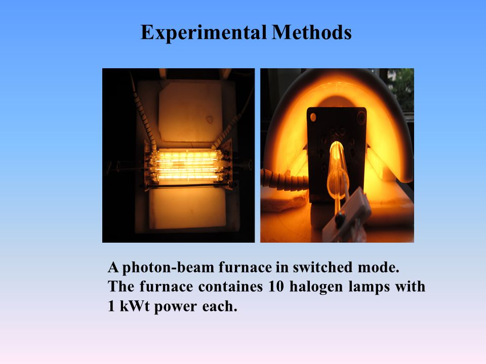 Experimental Methods A photon-beam furnace in switched mode.